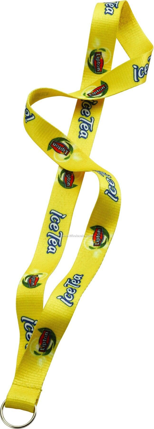 "3/4"" Imported Dye Sublimated Lanyard With Sewn Split Ring"