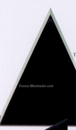 "6""x7""x1-5/8"" Free Standing Triangle Award - Large"