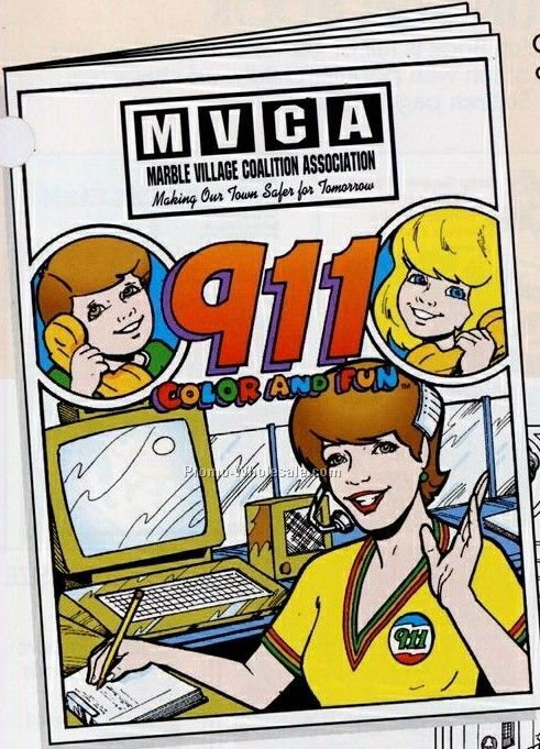 "8""x10-5/8"" 16 Page Coloring & Fun Book (Emergency 911)"