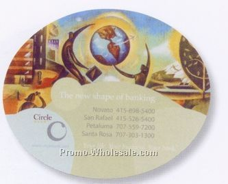 "8""x6-1/2""x1/8"" Colorsource Soft Surface Oval Mouse Pad"