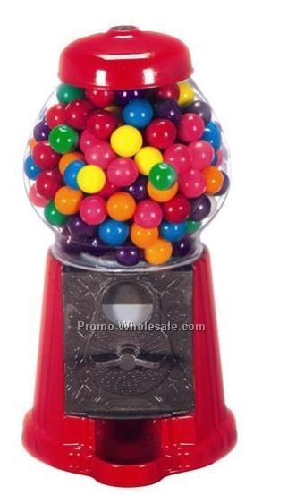 "9"" Metal & Glass Gumball Machine"
