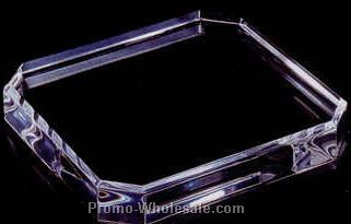 "Acrylic Specialty Base (Corner Cut) 3/4""x10""x10"" - Black"