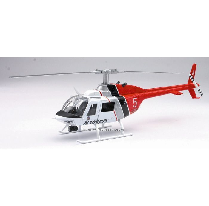 Bell 206 Jet Ranger Lafd Die Cast Helicopter 1:34 Scale