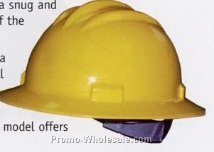 Bullard Standard Series Hard Hat W/ Round Front (4 Pt Ratchet Suspension)