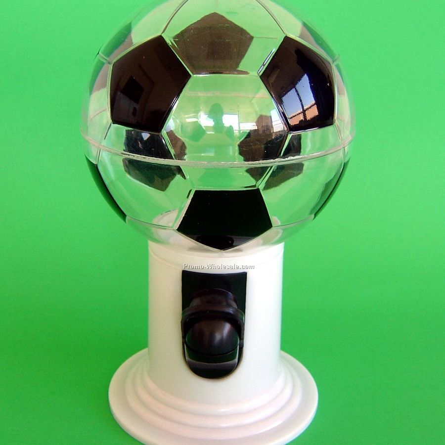 Candy Dispenser - Soccer - 1 Side / 1 Color Custom Imprint