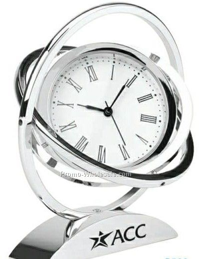 Chrome Spinner Clock