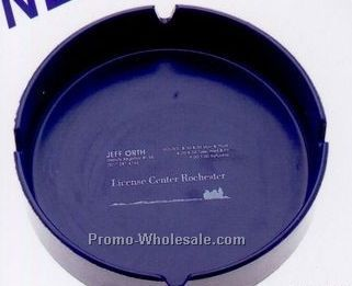 Classic Ash Tray W/ 4 Slotted Top (Black)
