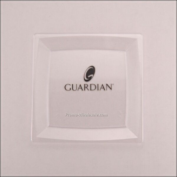 Clear Large Square Milan Plate