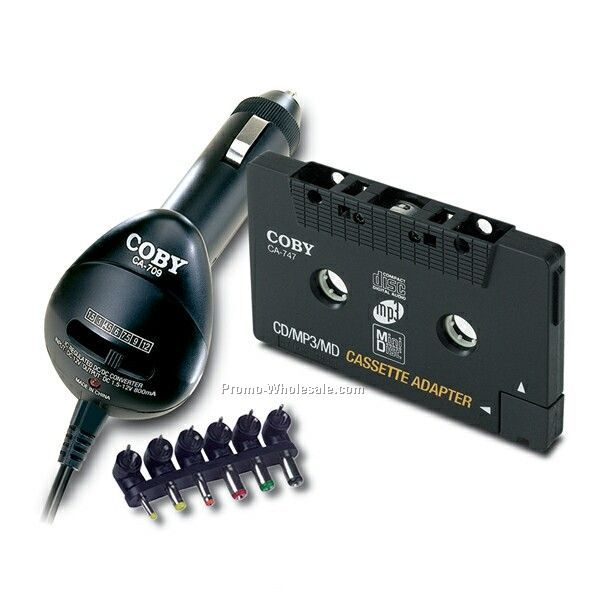 Coby CD Car Adapter & Dc/Dc Car Converter