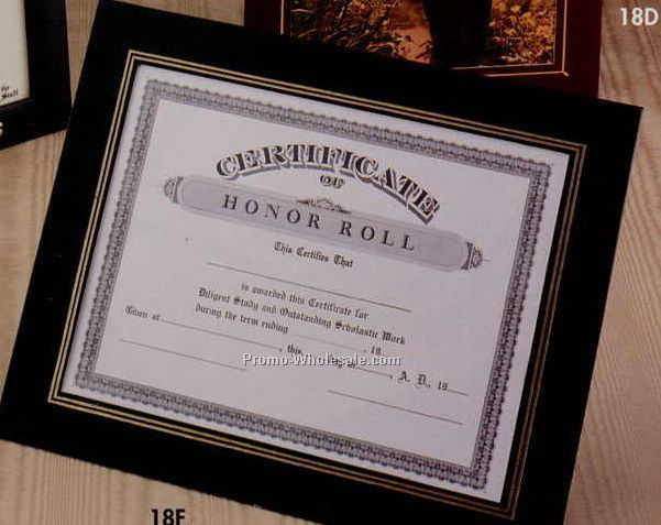 "Flat Certificate Frame With 8""x10-1/2"" Window (8-1/2""x11"")"