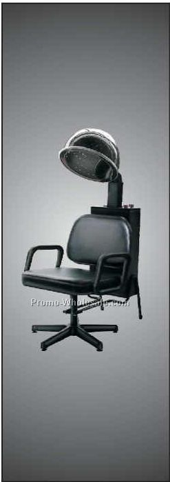 Hair Dryer Chair Panoramic Badge W/ Metal Pin