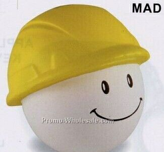 Hard Hat Mad Cap Squeeze Toy
