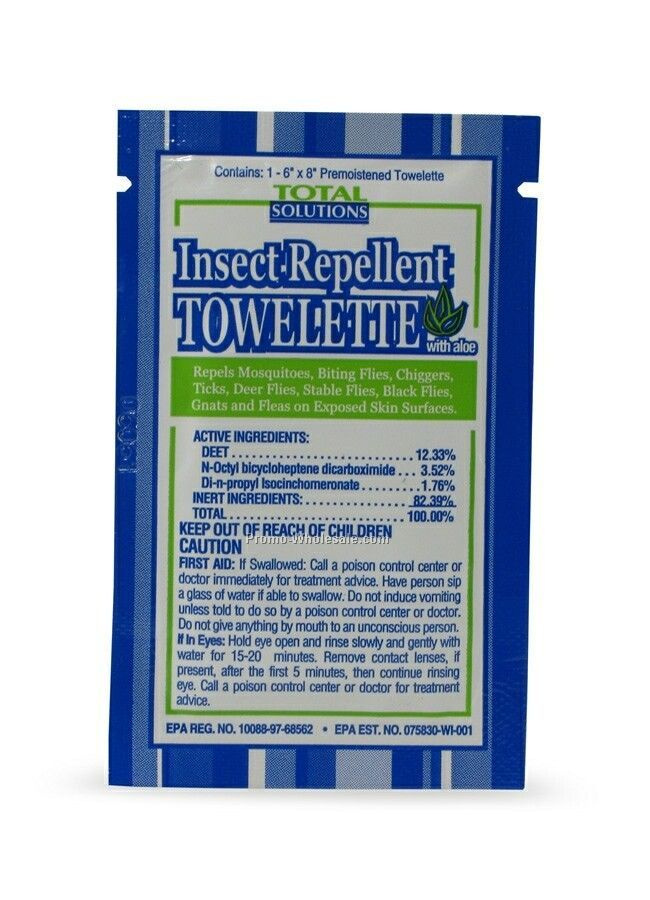 Insect Repellent Towelettes W/ Deet