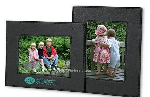 Insight Dual View Leather Photo Frame