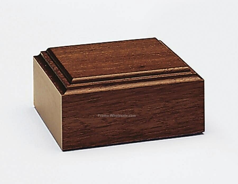 "Jaffa Unlighted Mahogany Tone Wood Base - 4""x1-3/4""x4"""