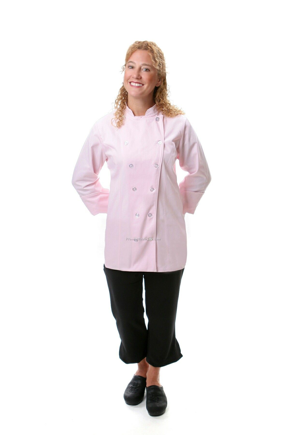 Ladies' Fitted Chef Coat - Pink (3x-large)