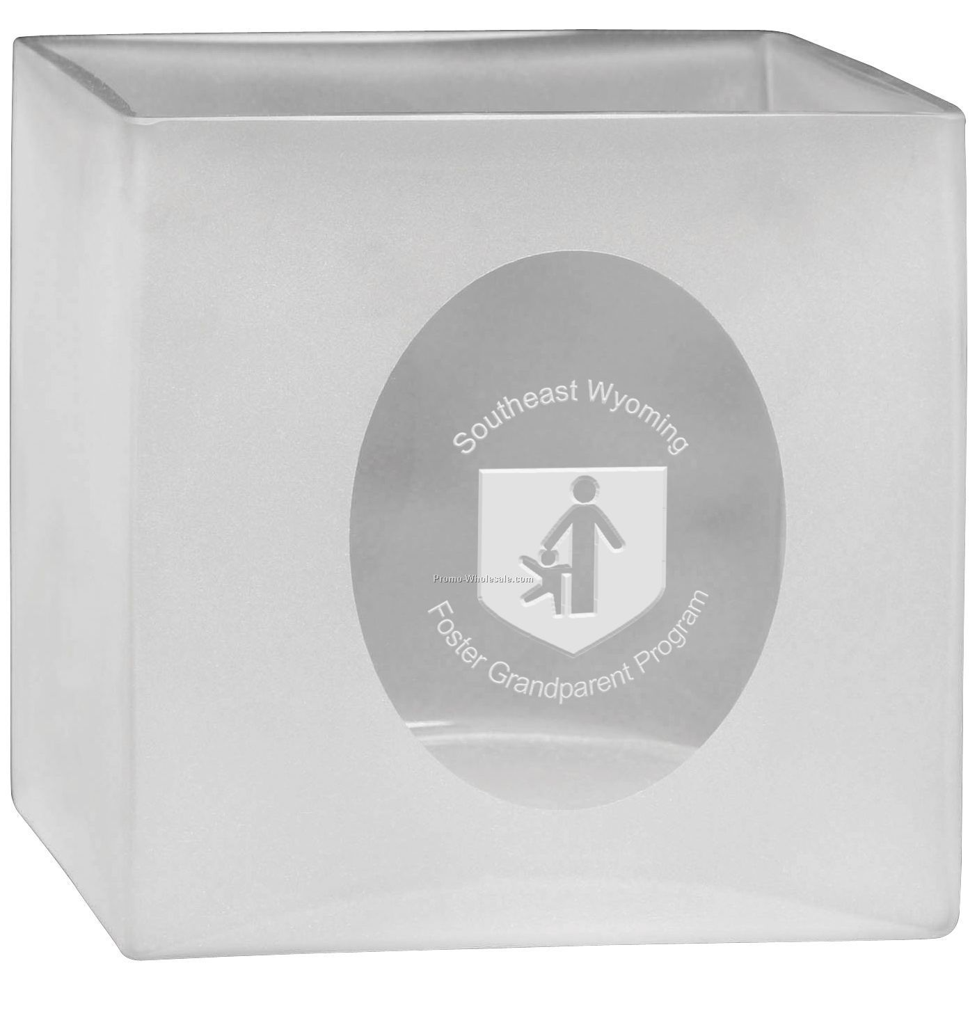 Large Square Cameo Ice Bucket