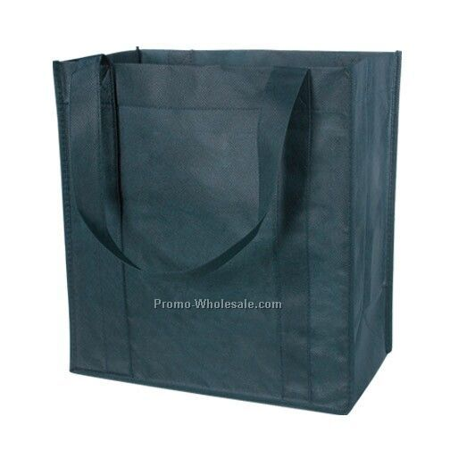 Non Woven Shopper Tote - Forest Green