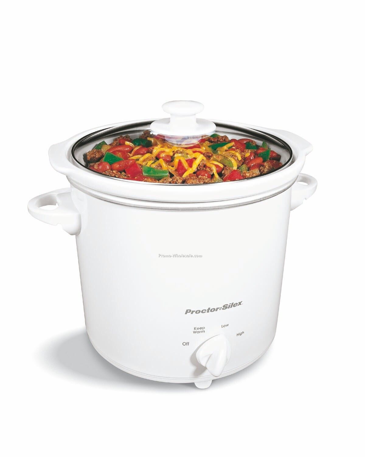 Proctor Silex Ps - 4 Qt Slow Cooker - White