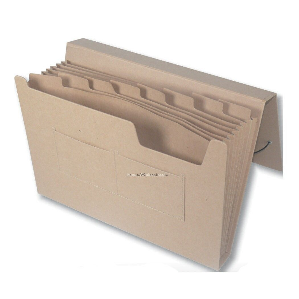 Recycled Expandable Natural Kraft Portfolio W/ 9 Dividers