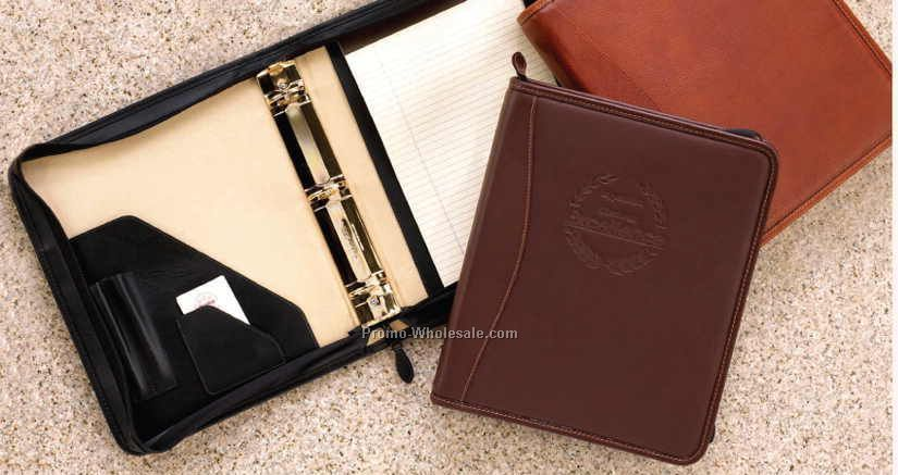 Roma & Tuscany Collection Zipper Ring Binder