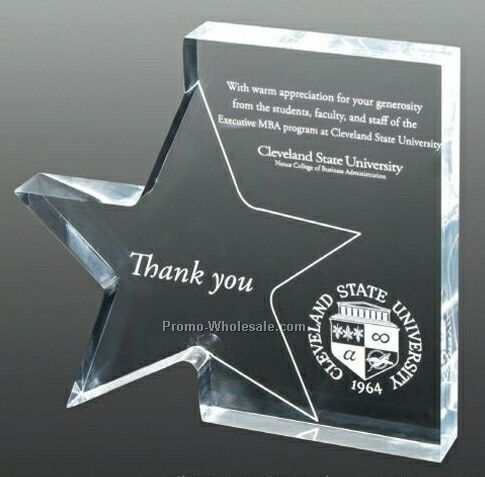 Standing Star Award (Laser Engraved)