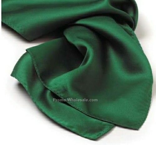 Wolfmark Kelly Green Solid Series Polyester Scarf