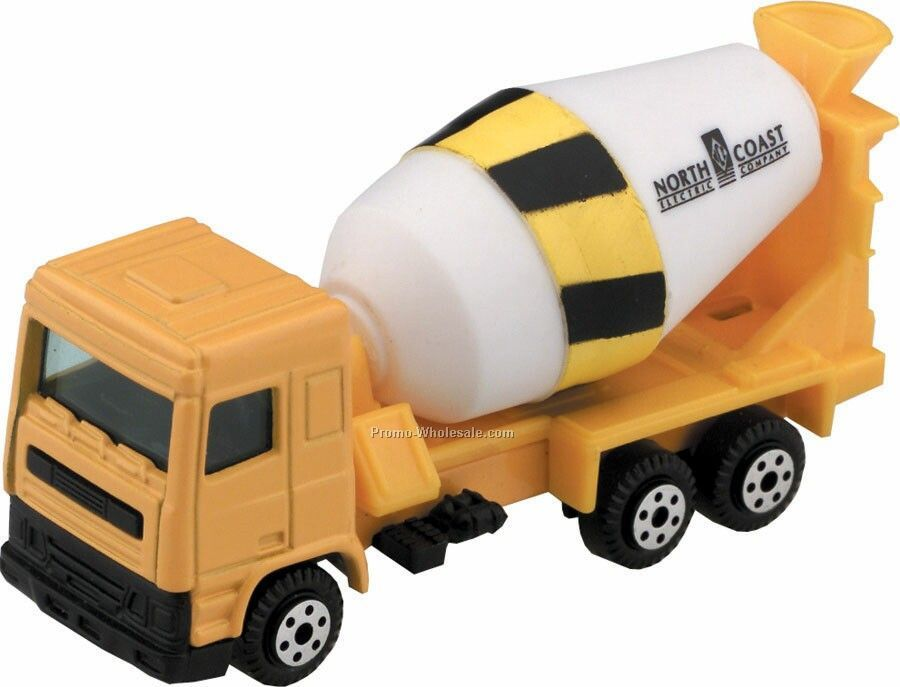 Yellow Cement Truck Die Cast Mini Vehicles