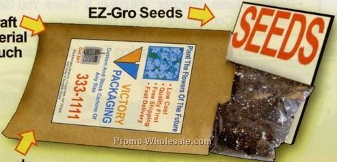 Zinnia All In One Mailable Seed Pouch Kit