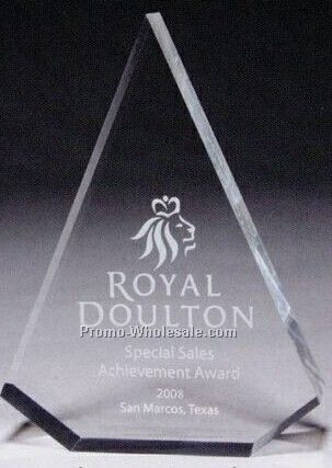 "1"" Thick Clear Acrylic Pyramid Award (Laser Engraved)"