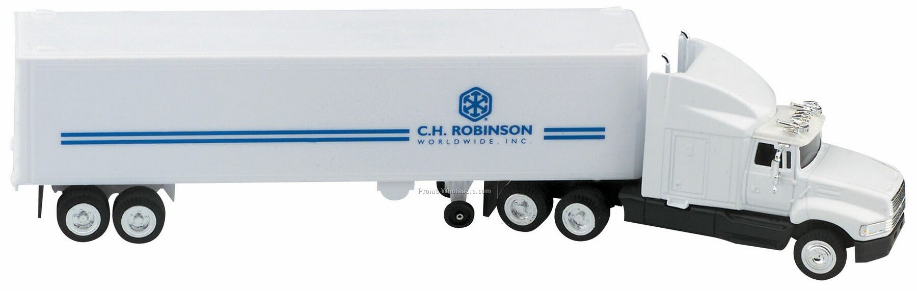 "14"" Die Cast Aeromax Hauler Truck With Trailer"