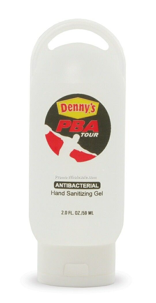 2 Oz. Hand Sanitizing Gel W/Loop Tottle - Antibacterial Moisturizing Lotion