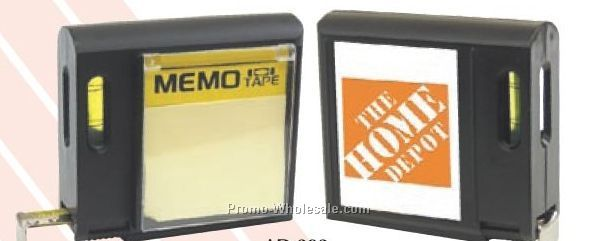 "3-1/2""x3""x1-1/4"" 16' Memo Mate Tape Measure With Level"