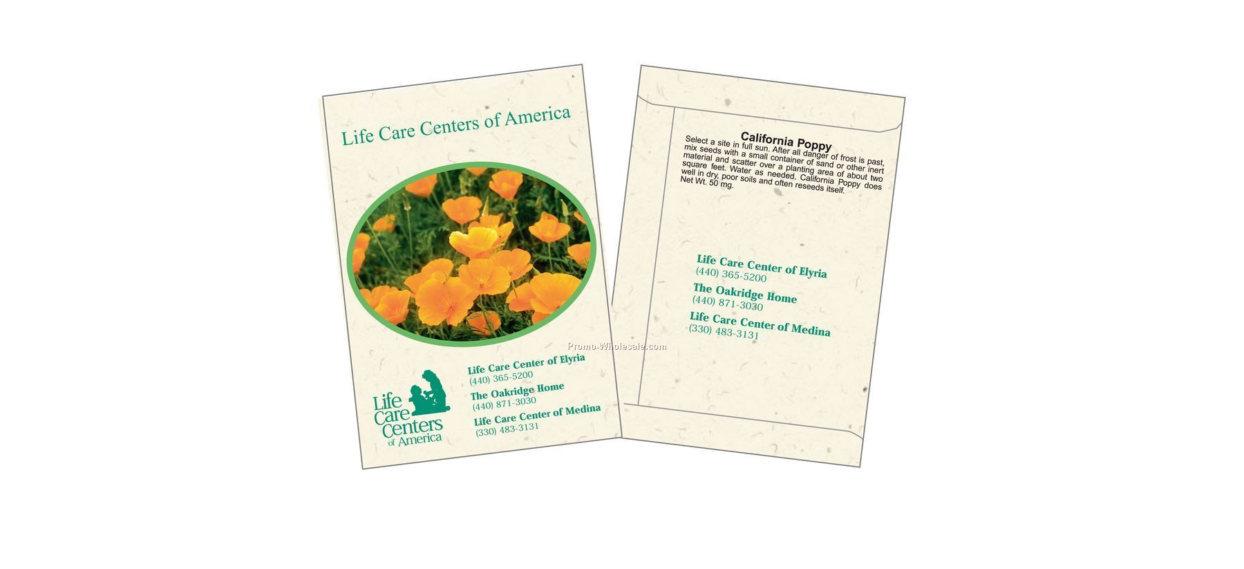 "3-1/4""x4-1/2"" California Poppy Flower Seed Packet (1 Color)"