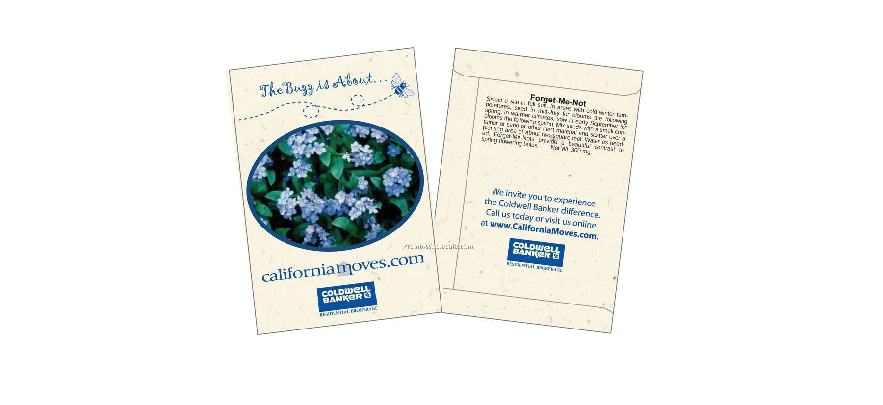 "3-1/4""x4-1/2"" Forget-me-not Seed Packet (1 Color)"