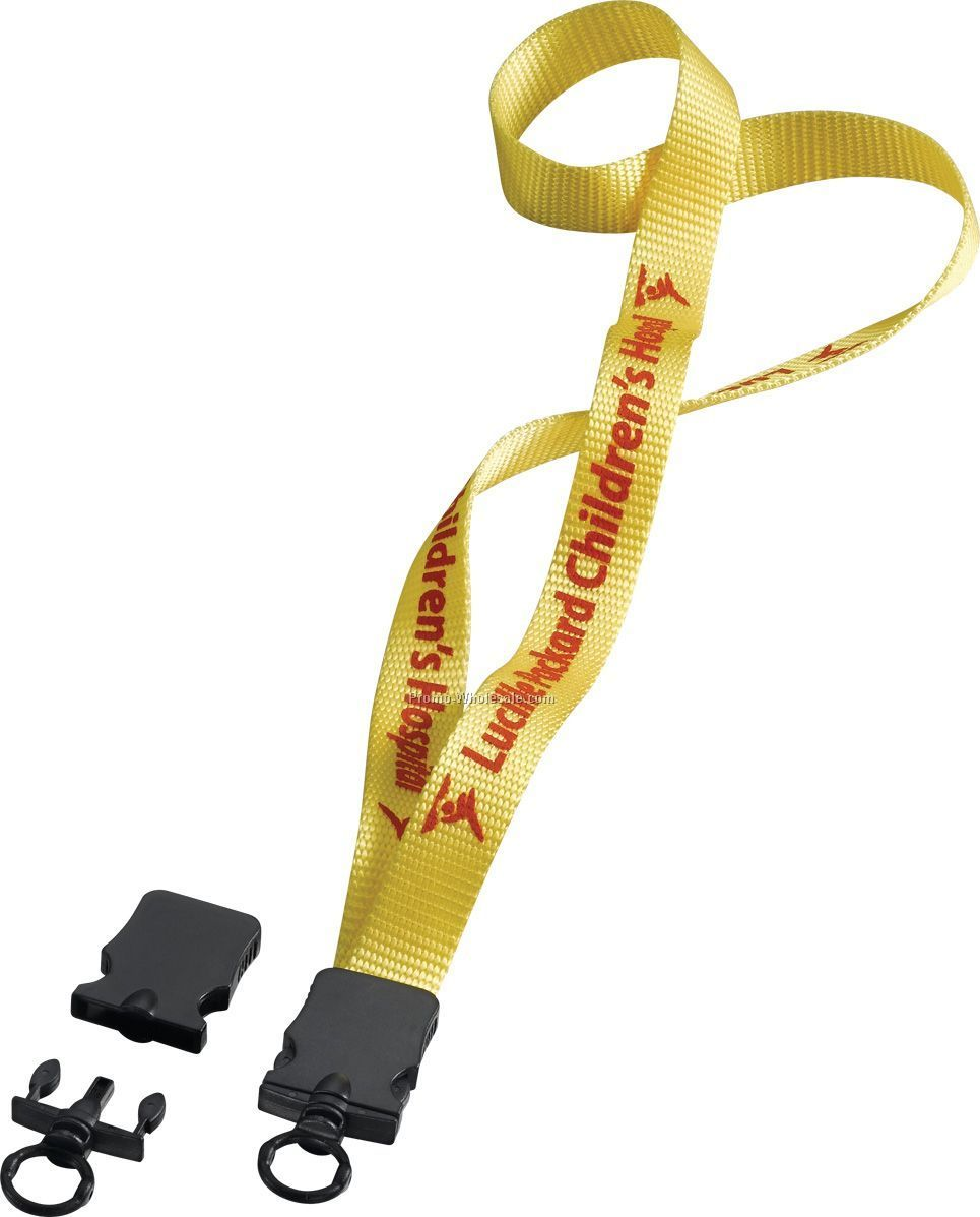 "3/4"" Nylon Lanyard With Snap Buckle Release & O-ring"
