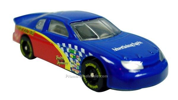 "3""x1-1/4""x3/4"" Nascar Diecast Car With Side Racing Graphics"