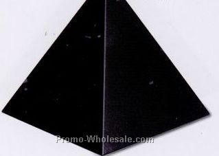 "3""x3""x3"" Pyramid Award - Jet Black (Small)"