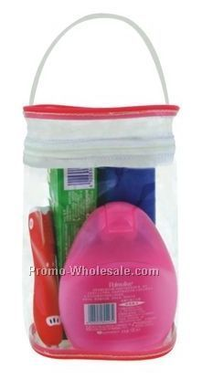 "4-1/2""x3""x6-3/4"" Handy Carrying Clear Bag"