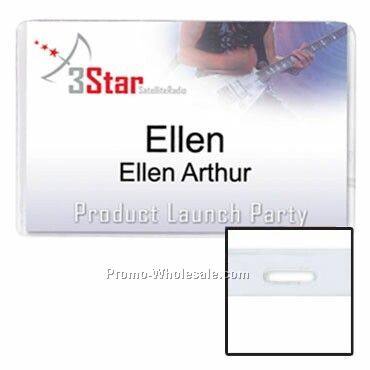 "4""x2-1/2"" Vinyl Nametag Holder Slotted"