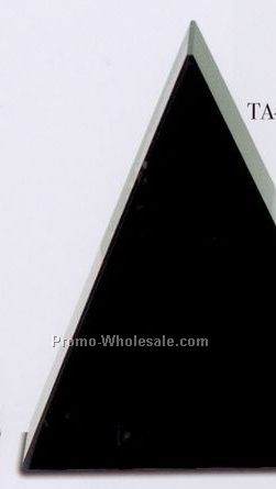 "5""x6""x1-5/8"" Free Standing Triangle Award - Medium"