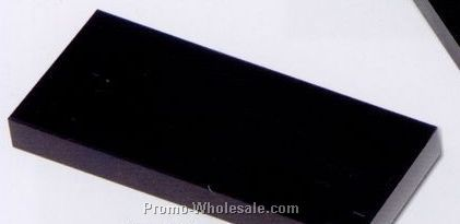 "7""x3/4""x3"" Rectangular Base - Jet Black"