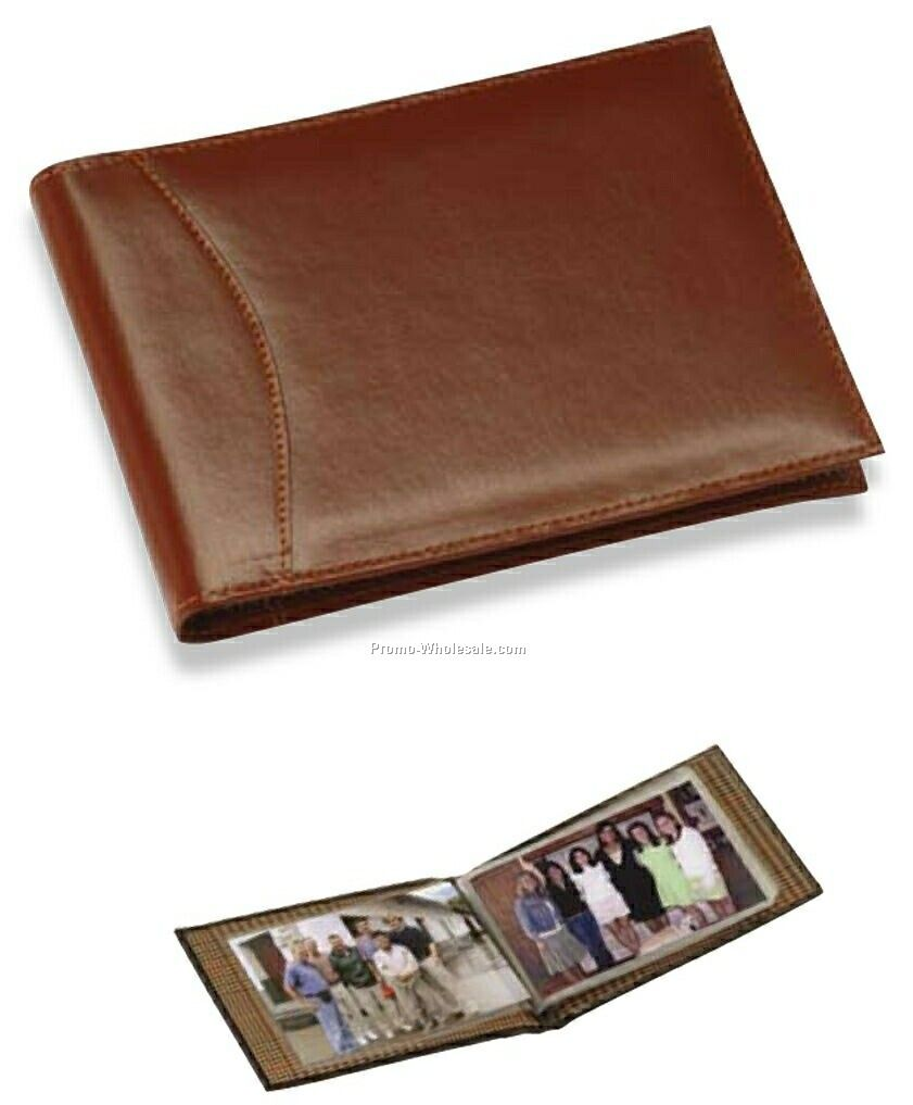"7""x5""x3/4"" Black Full Grain Leather Coventry Photo Register"