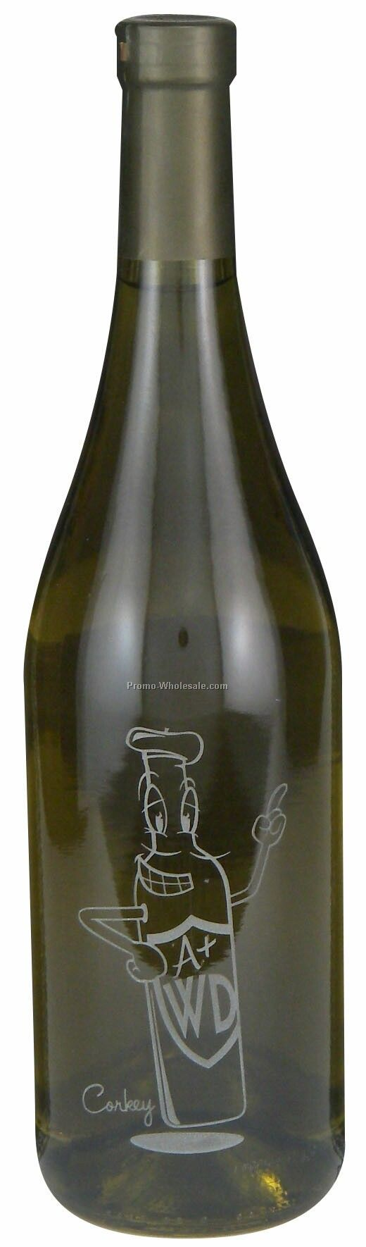 750 Ml Custom Etched Chardonnay Woodbridge, Ca, Just Etch