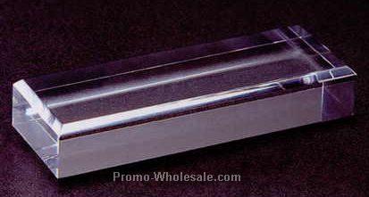 "Acrylic Specialty Base (Beveled Top) 3/4""x3""x3"" - Clear"