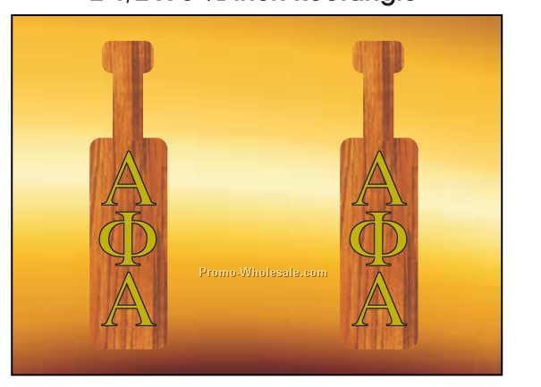 "Alpha Phi Alpha Fraternity Paddle Badge W/ Metal Pin (2-1/2""x3-1/2"")"