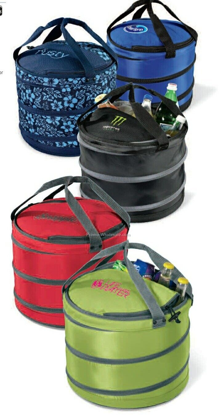 Black/ Gray Collapsible Party Cooler