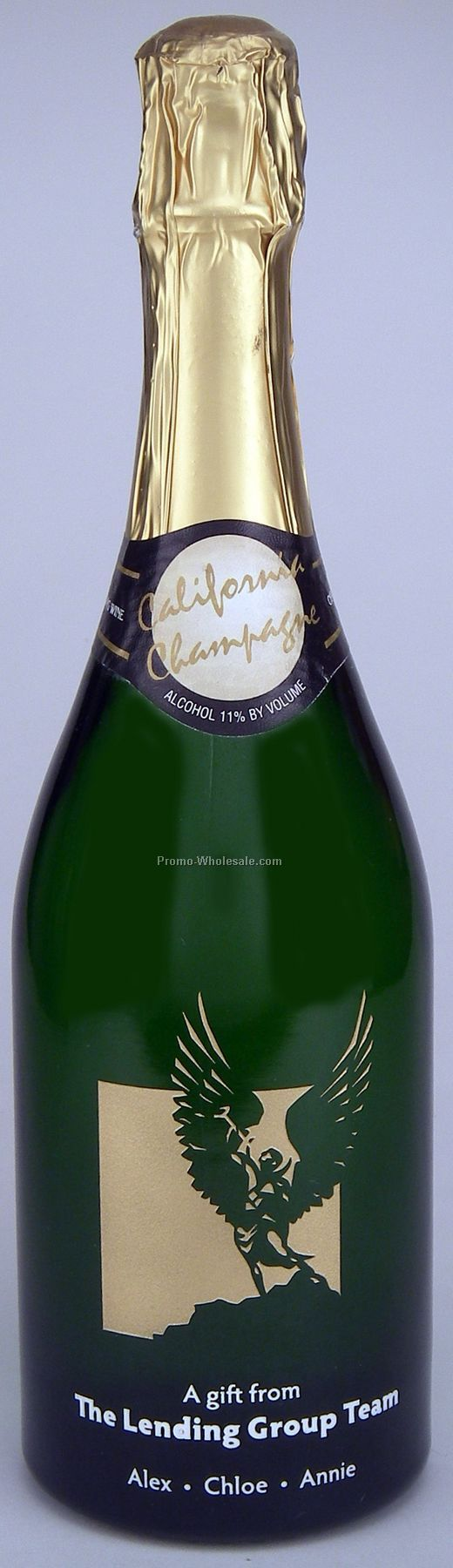 California Sparkling Wine, 750 Ml, 1 Deep Hand-etch, 2 Paint Fills