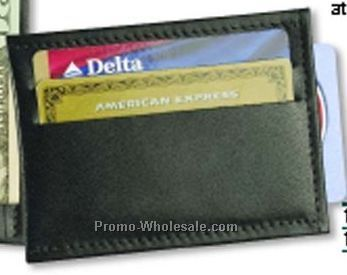 Carry All Money Clip/ Credit Card Holder/ Steel Clip - Regency Cowhide