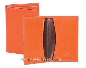 Chocolate Buttercalf Leather Business Card Case
